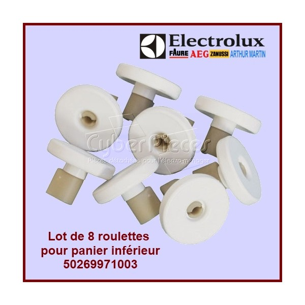 Lot de 8 roulettes inférieures blanches Electrolux 50269971003