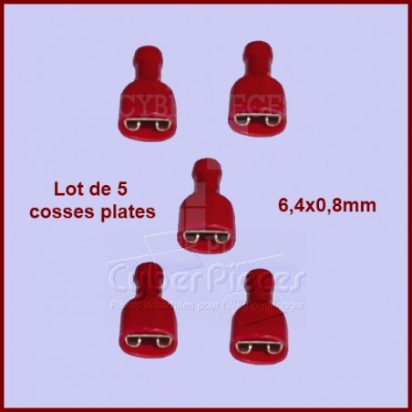 Lot de 5 cosses a sertir Rouge