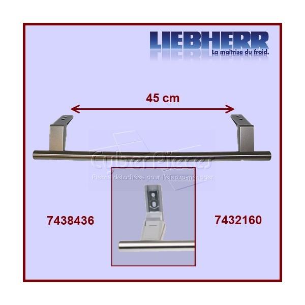 Poign es de porte inox 7438436 pour poignees refrigerateurs et congelateurs froid pieces - Poignee de porte liebherr ...