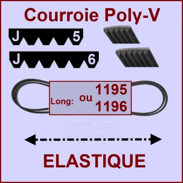Courroie 1195J5 ou 1196J6 - EL- élastique