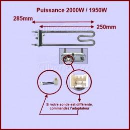 Thermoplongeur 2000W Longueur 265mm CYB-012645