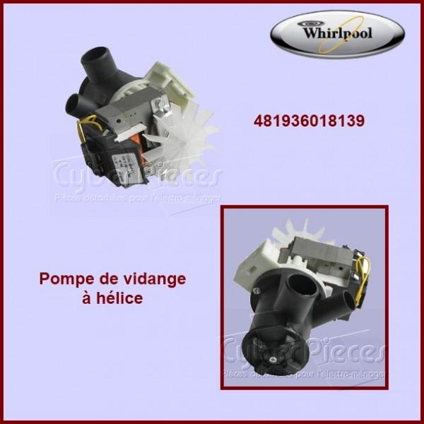 Pompe de vidange whirlpool 481936018139 pour pompe de vidange machine a laver lavage pieces - Pompe a eau machine a laver ...