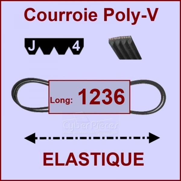 Courroie 1236J4 - EL- élastique