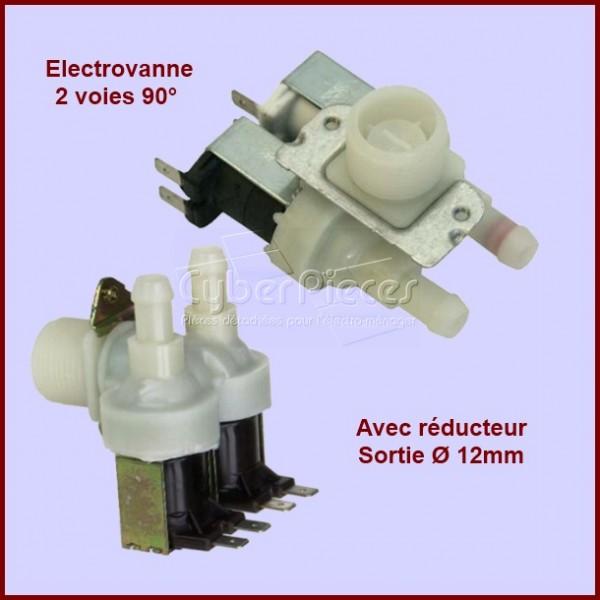 Électrovanne 2 voies 90°- sortie Ø 12 mm avec réducteur