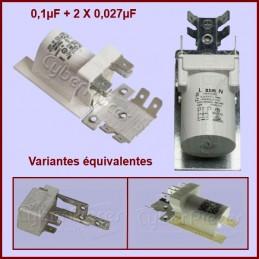 Condensateur antiparasite 0,1µF+2x0,027µF (0,1mF+2x0,027mF) 250V CYB-005210