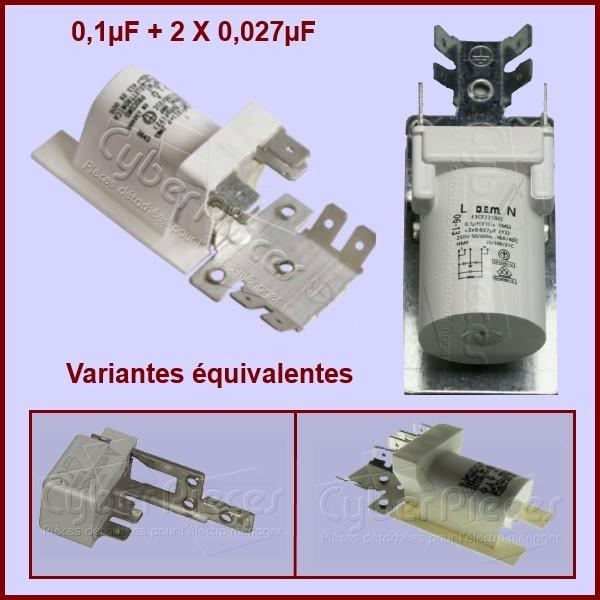 Condensateur antiparasite 0.1µF + 2X 0.027µF