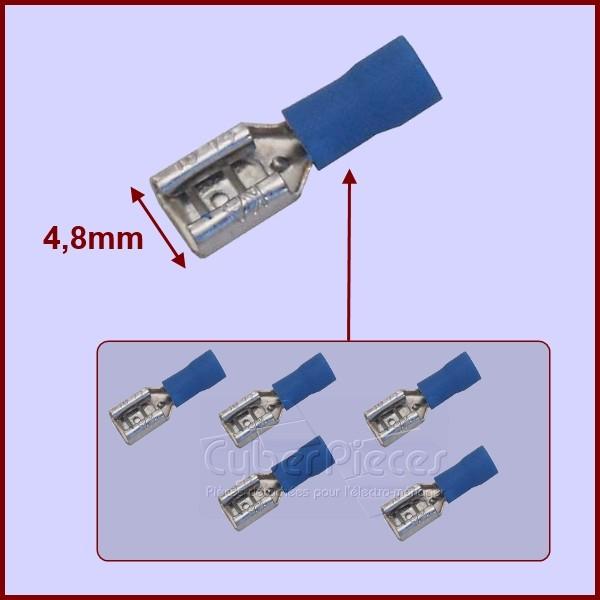 Sachet De 5 Cosses Bleues 4,8mm Platine