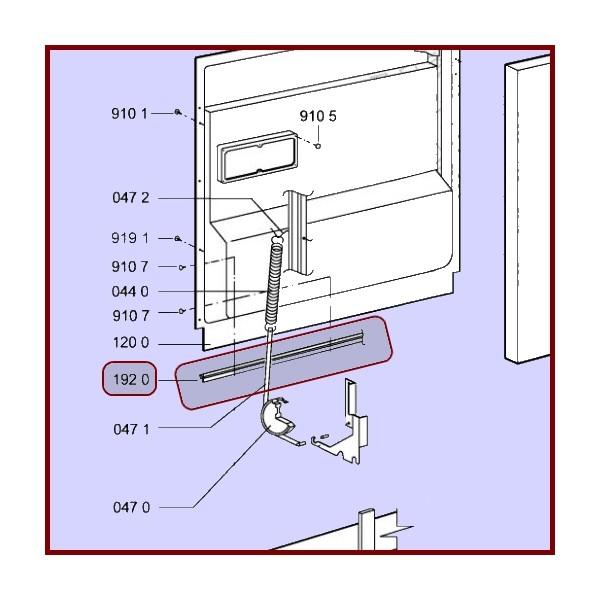 Joint bas de porte whirlpool 481246668912 pour joints bas - Demontage porte four whirlpool ...
