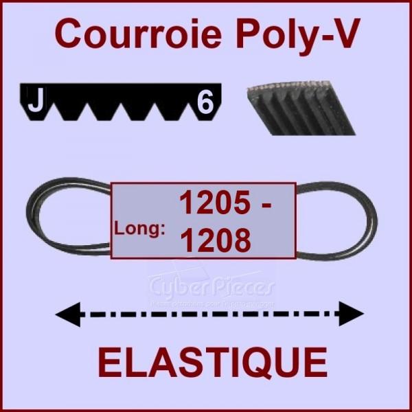 Courroie 1205 J6 -1208 J6 - EL- élastique