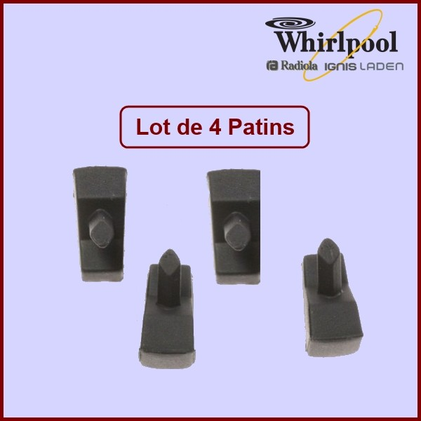 Sachet de 4 Patins Whirlpool 484000000840