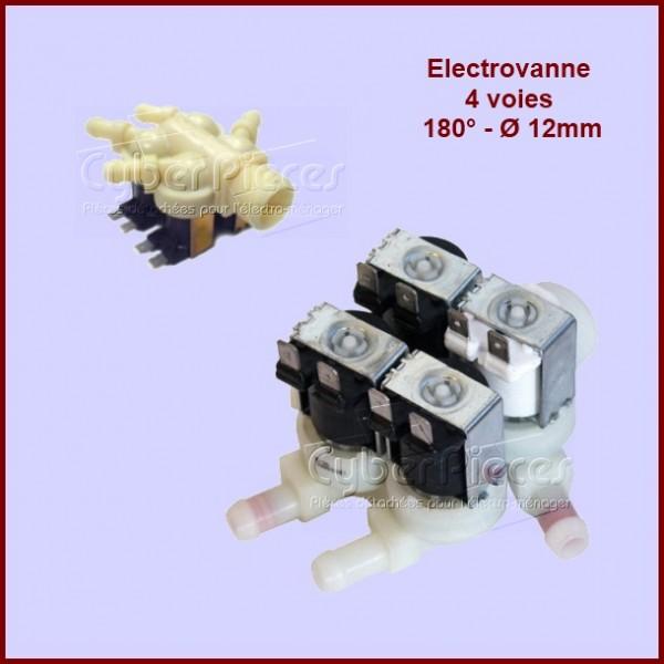 Électrovanne 4 voies 180° / Ø 12mm