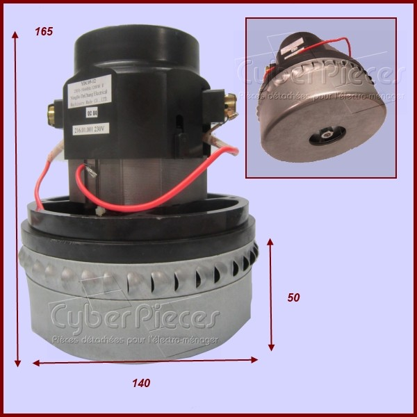 moteur d 39 aspirateur by pass 2 etages 1200w pour aspirateur petit electromenager pieces detachees. Black Bedroom Furniture Sets. Home Design Ideas