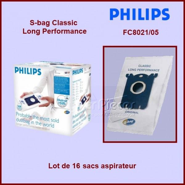 Lot de 16 sacs aspirateur FC8021/05