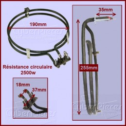 Résistance circulaire 2500w CYB-016063