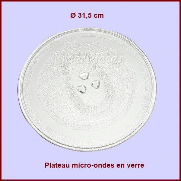 Plateau micro onde en verre  Ø 315mm - 72X3692