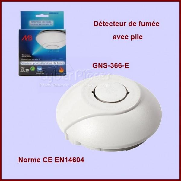 Détecteur de fumée norme CE EN14604 avec pile