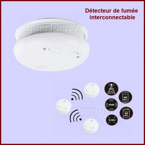 Détecteur de fumée optique norme CE EN14604 sans fil interconnectable **EPUISEE**