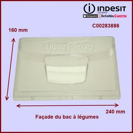 Façade transparente du bac à légumes C00283886