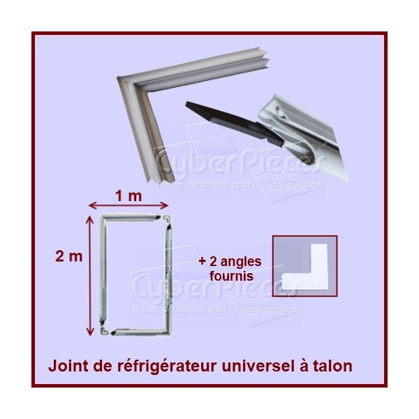 Kit joint magnétique à talon dimension 2m X 1m