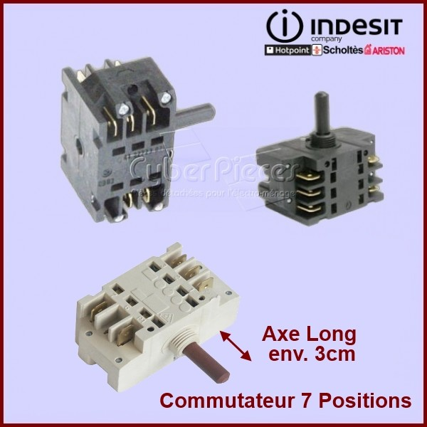 Commutateur 7 Positions Axe Long  EGO 481927328384