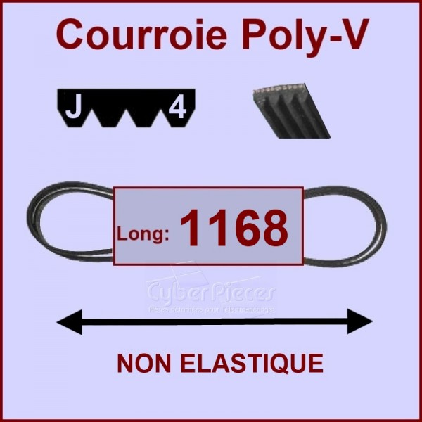 Courroie 1168 J4  non élastique