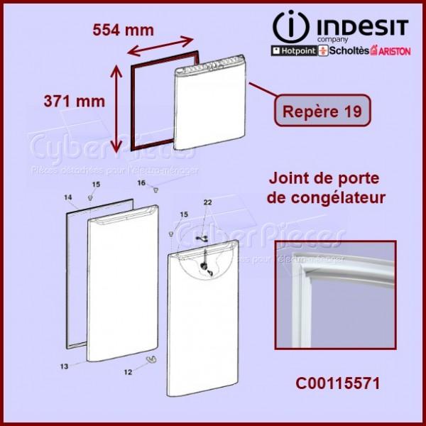 joint de porte cong lateur c00115571 pour joints refrigerateurs et congelateurs froid pieces. Black Bedroom Furniture Sets. Home Design Ideas