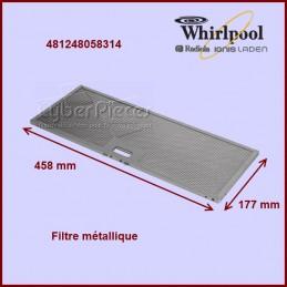 Filtre métallique 458x177...