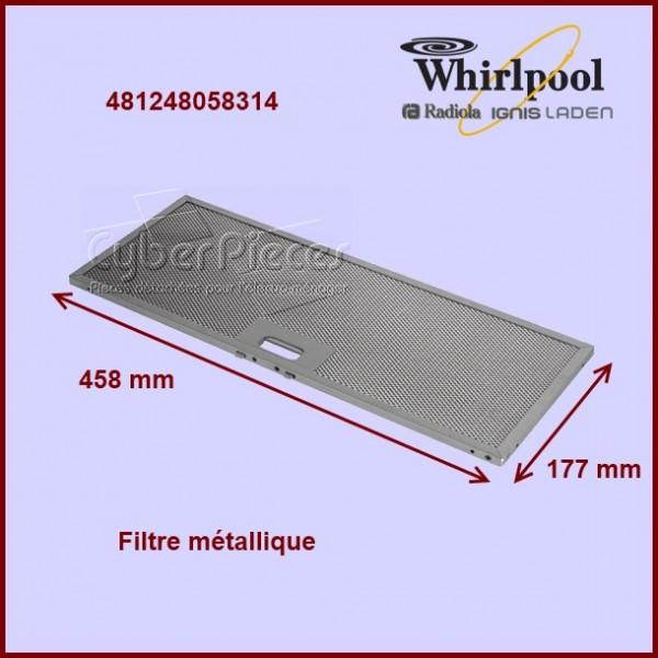 Filtre métallique 458x177 mm - 481248058314