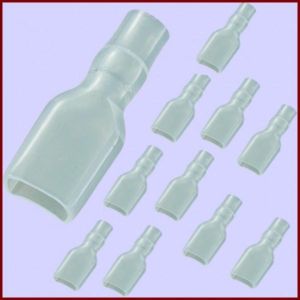 10 Manchons Isolants pour Cosses de 6,3mm