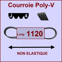 Courroie 1120J4 non élastique