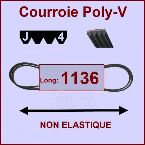 Courroie 1136J4 non élastique