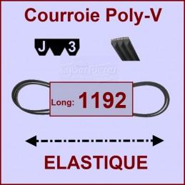 Courroie 1192J3 - EL- élastique CYB-004312