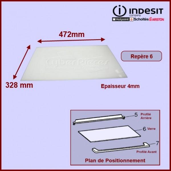 Clayette En Verre 472x328x4 Indesit C00143042