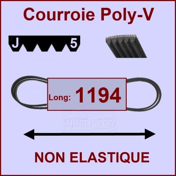Courroie 1194J5 non élastique