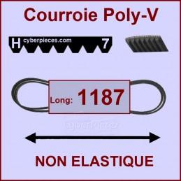 Courroie 1187H7 non élastique