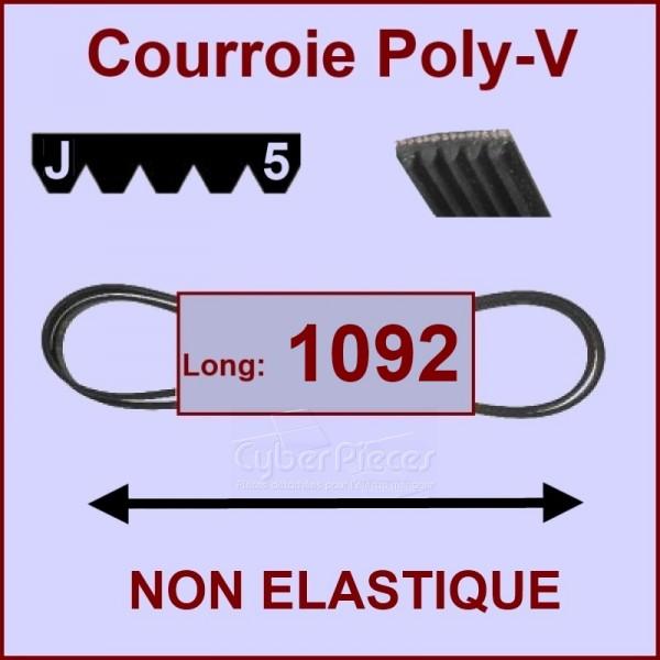 Courroie 1092J5 non élastique