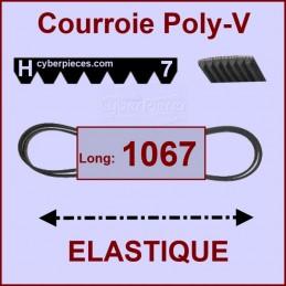 Courroie 1067H7 - EL- élastique CYB-004350
