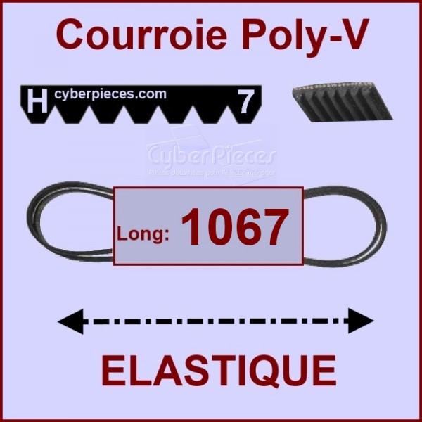 Courroie 1067H7 - EL-  élastique