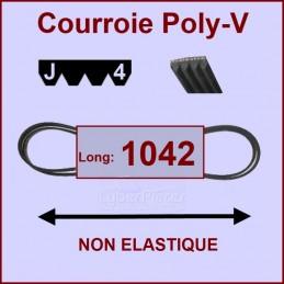 Courroie 1042J4 non élastique