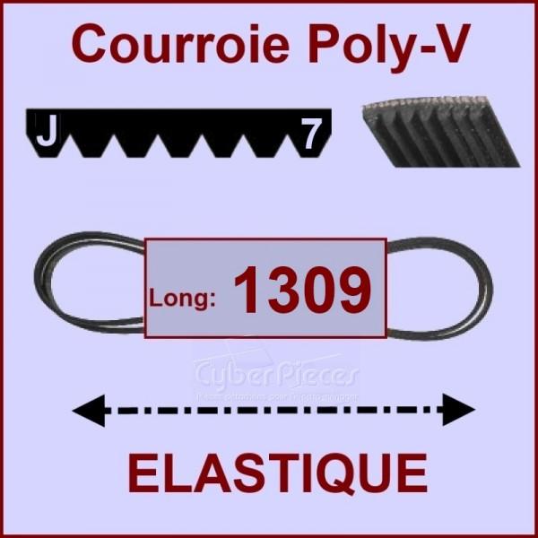 Courroie 1309 J7 - EL- élastique