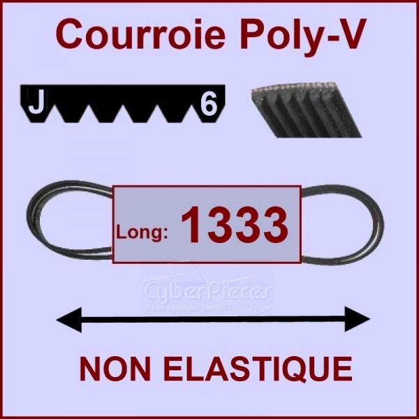 Courroie 1333 J6 non élastique