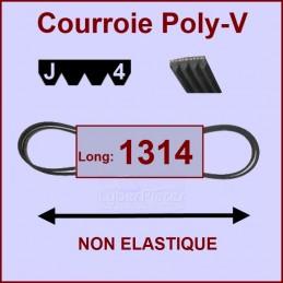 Courroie 1314J4 non élastique
