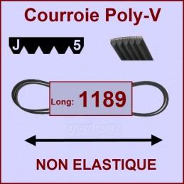 Courroie 1189J5 non élastique