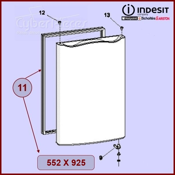 Joints de réfrigérateur (552X925) C00114662