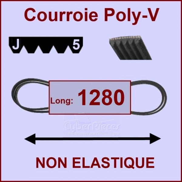 Courroie 1280 J5 non élastique
