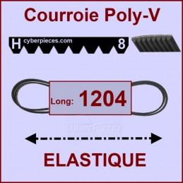 Courroie 1204H8 - EL- élastique CYB-004541