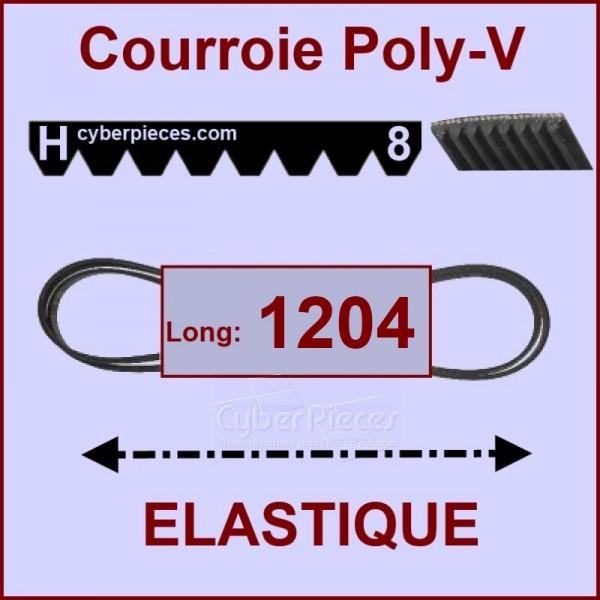 Courroie 1204H8 - EL- élastique