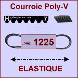 Courroie 1225H7 - EL- élastique CYB-004558