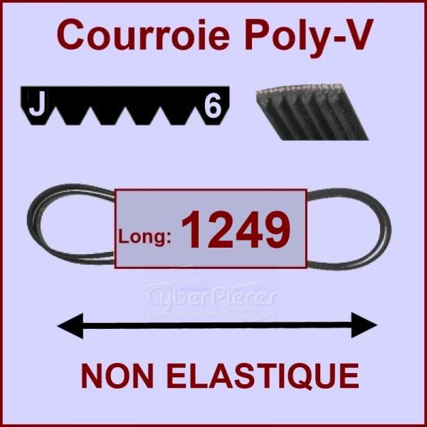 Courroie 1249 J6 non élastique