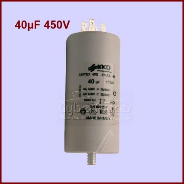 Condensateur 40,0µF (40,0mF) 450V
